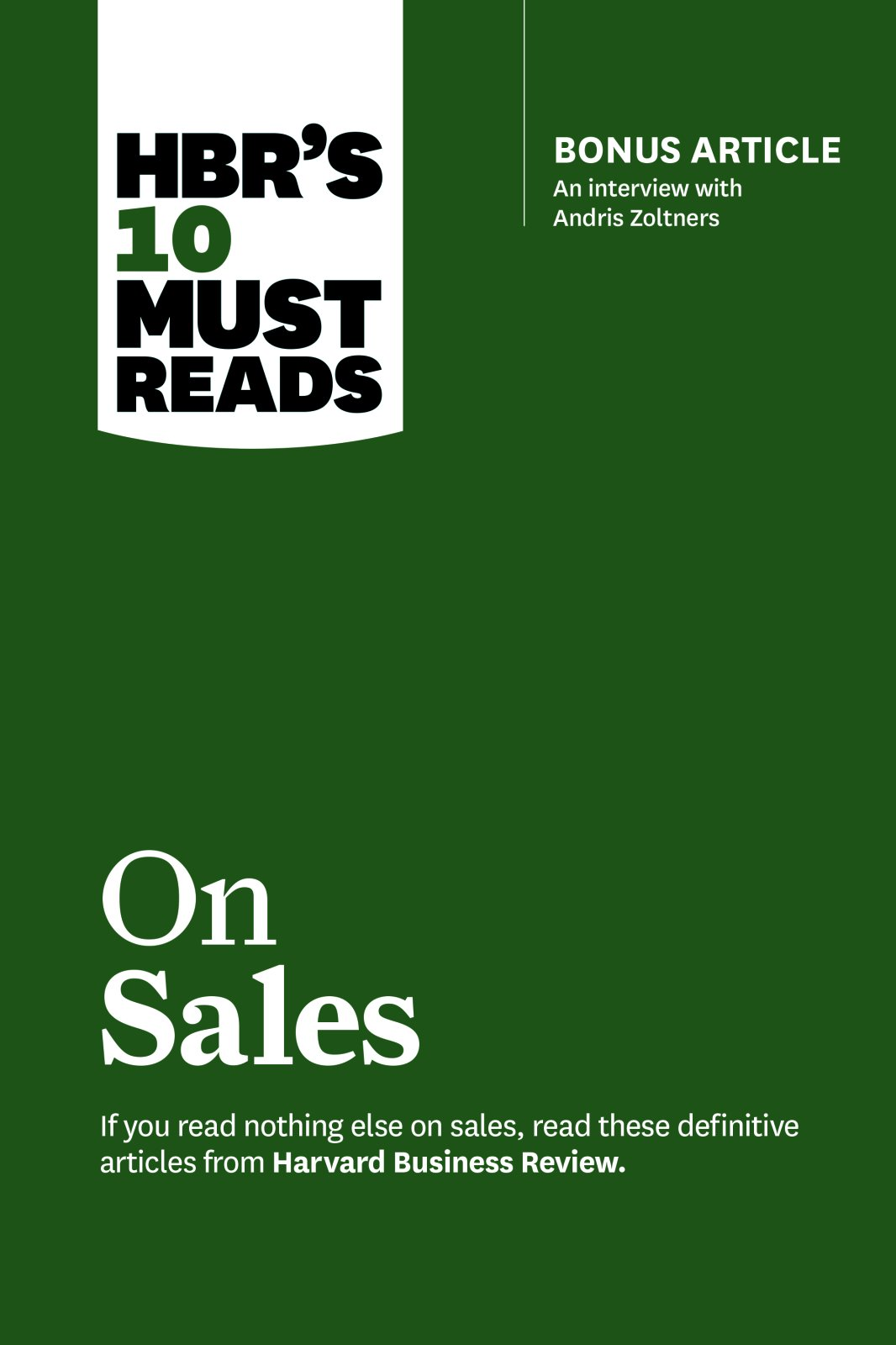 HBRS 10 Must Reads  On Sales