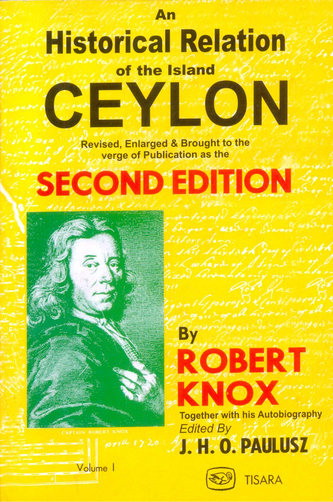Historical Relation Of The Island Ceylon Vol : I